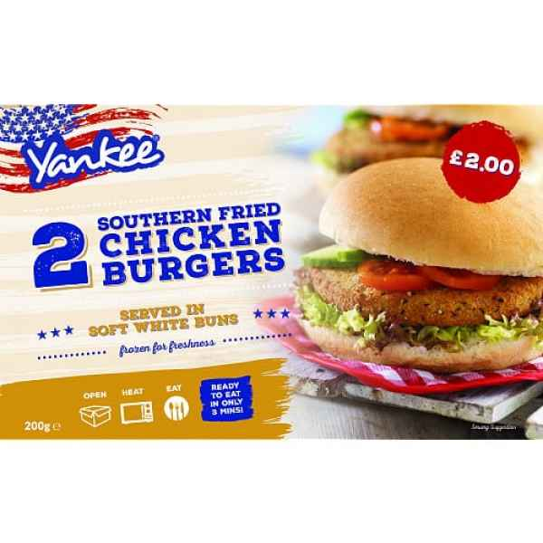 Yankee Southernfried Chicken Burger 2s PM