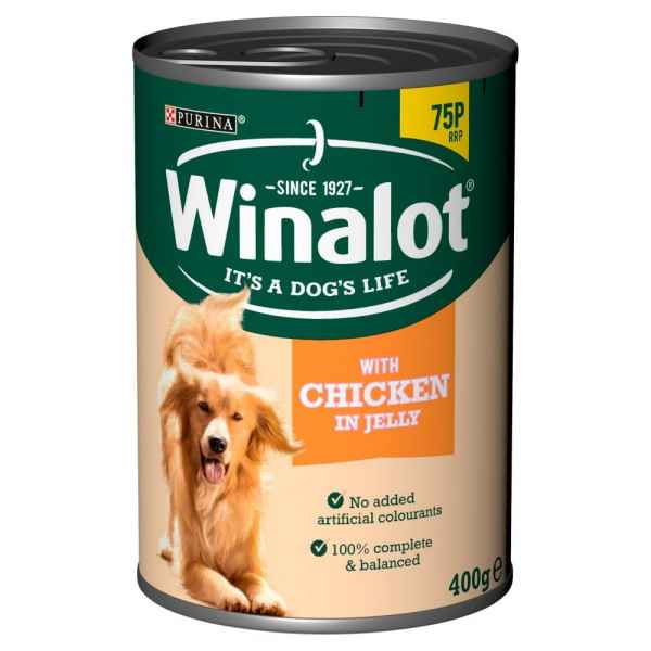 Winalot Chicken in Jelly 400g Dog Tinned