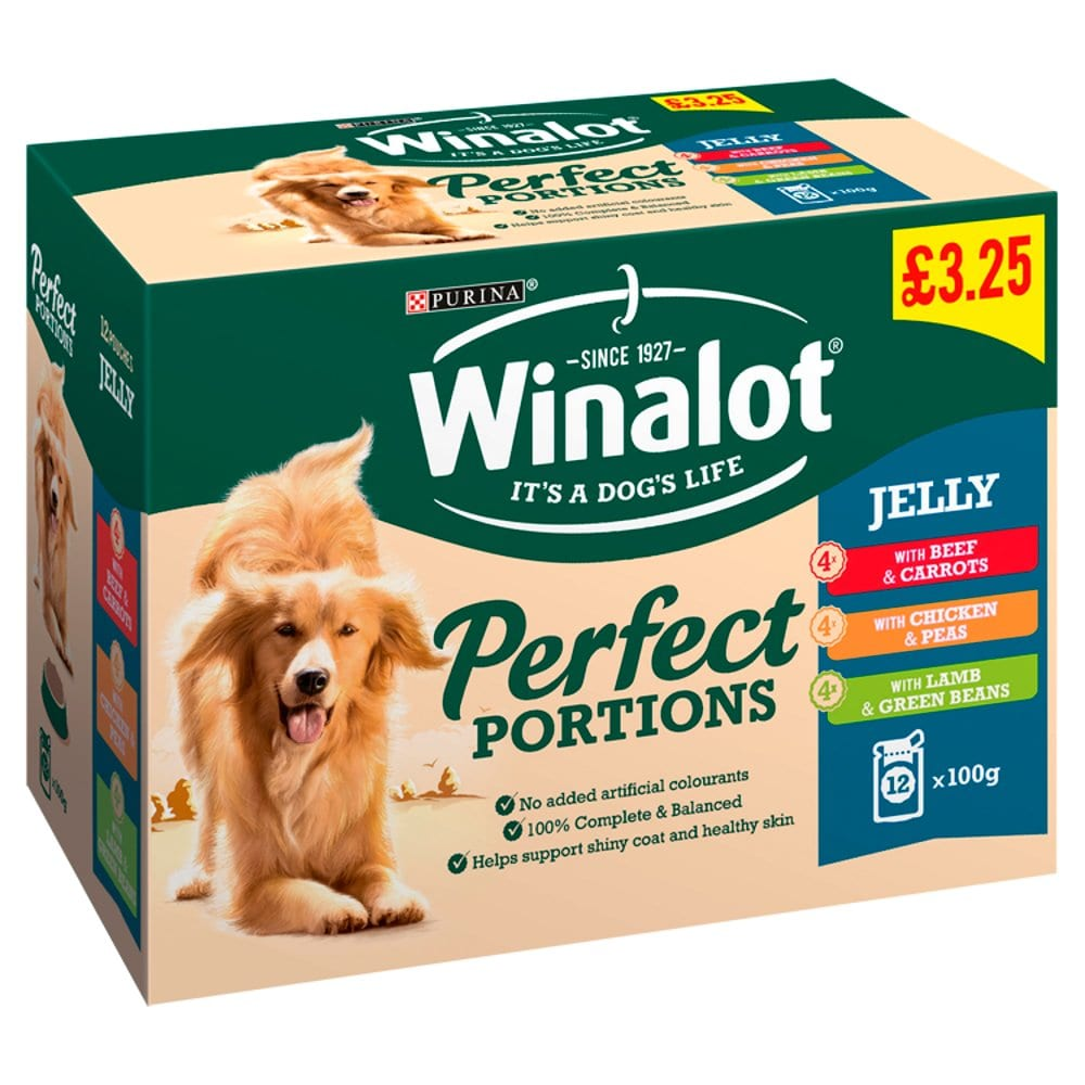 Winalot Perfect Portions Dog Food Mixed in Jelly 12 x 100g