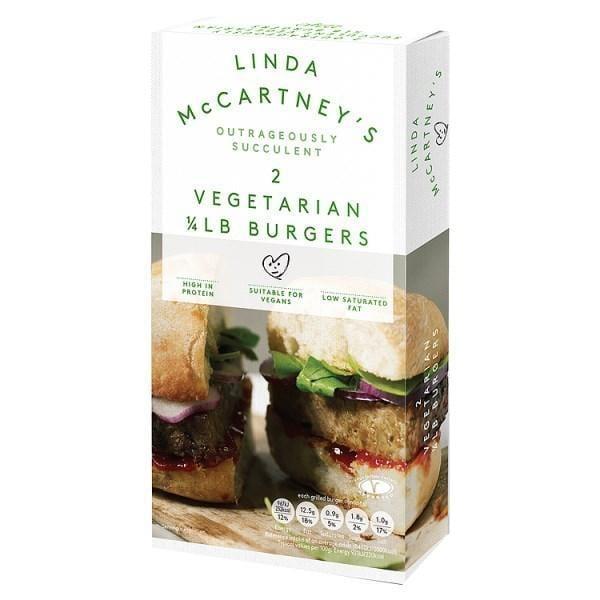 Linda McCartney 2 Vegetarian 1/4 LB Burgers 227g