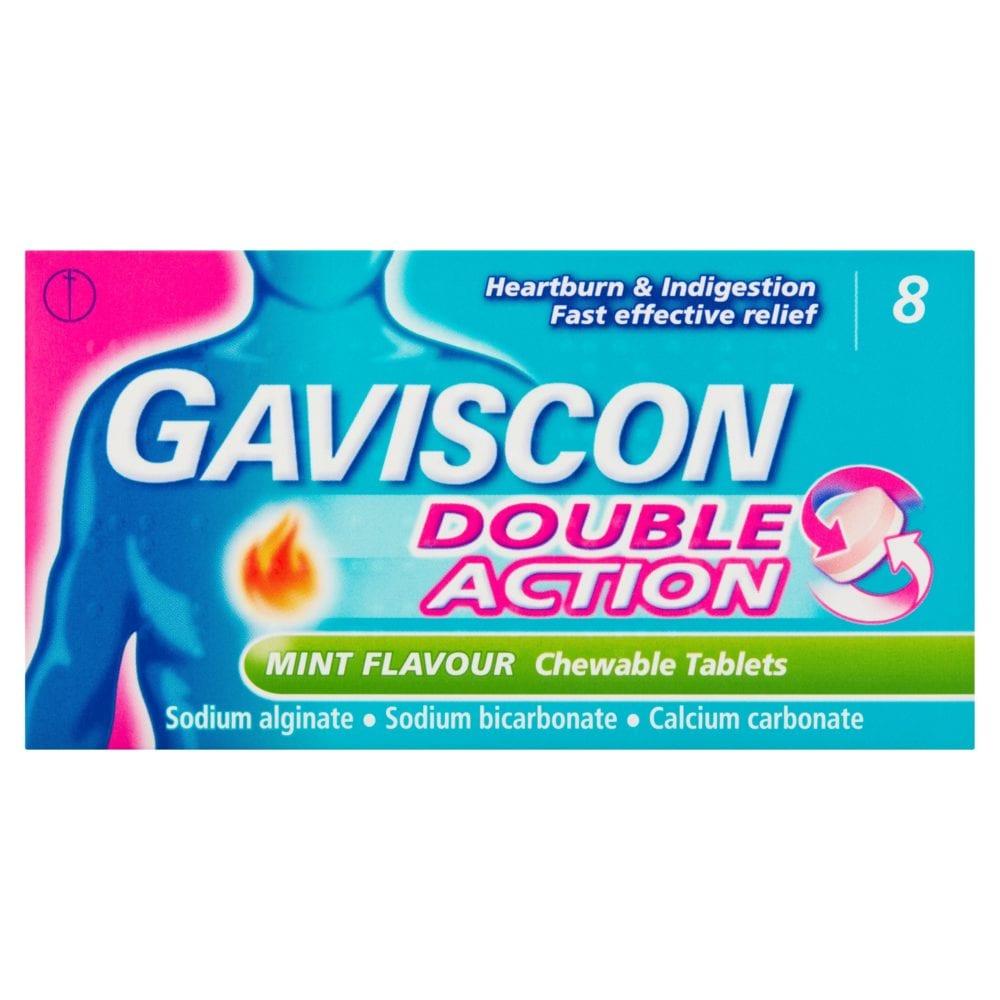 Gaviscon Double Action Mint 8 Chewable Tablets