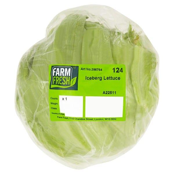 Whole Iceberg Lettuce Farm Fresh