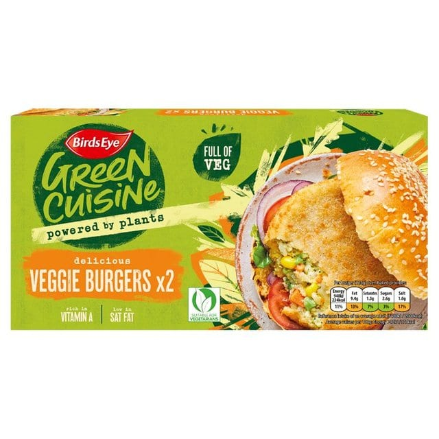 2 Veggie Burgers 250g – Birds Eye