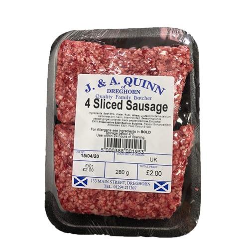 4 Sliced Sausages – J. & A. Quinn