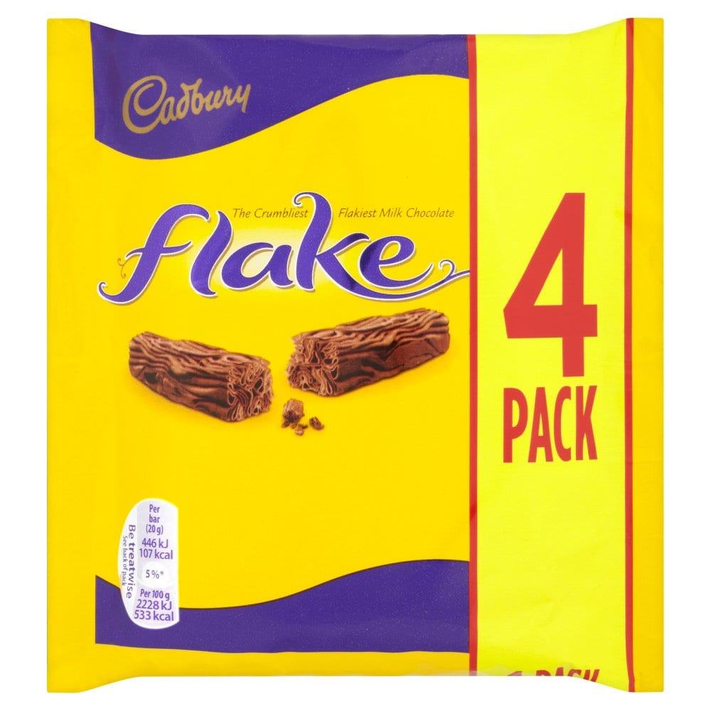 Cadbury Flake Chocolate Bar 4 Pack 80g