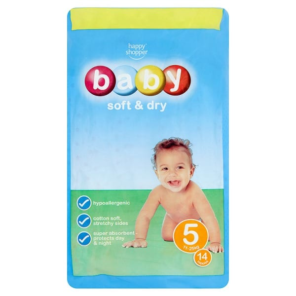 Happy Shopper Baby Soft & Dry 6 16kg+ 12 Nappies