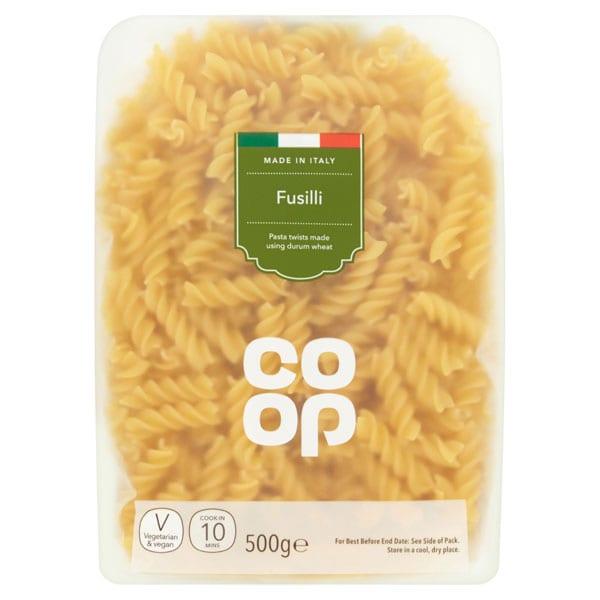Co Op Fusilli Pasta Twists 500g