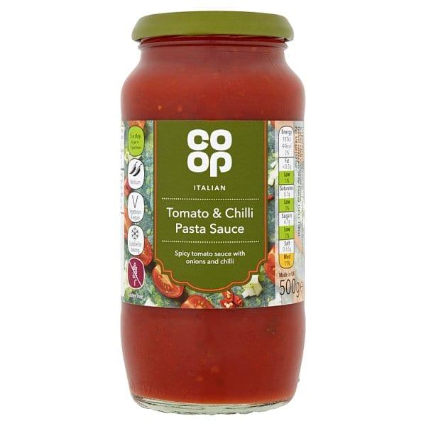 Co Op Italian Tomato and Chilli Pasta Sauce 500g