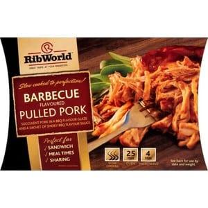 Rib World Barbecue Flavoured Pulled Pork 360g