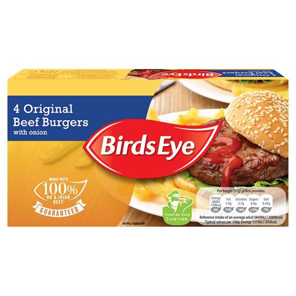 Birds Eye 4 Original Beef Burgers