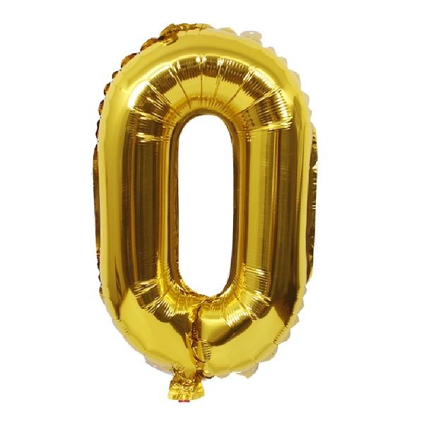 0 – Gold Numbered Balloon