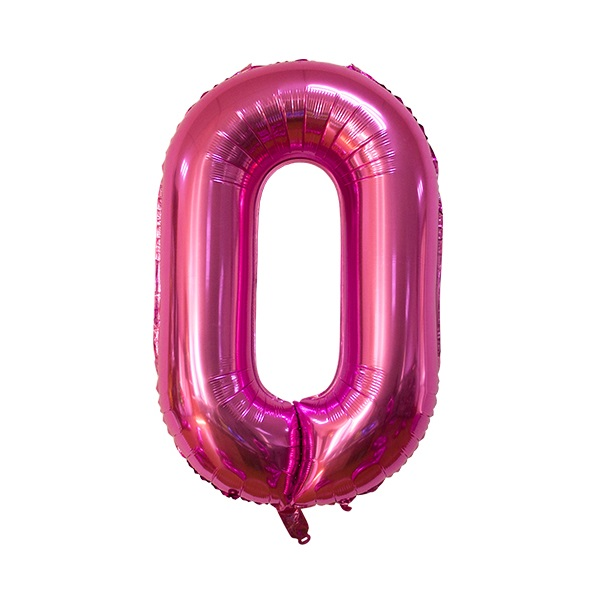 0 – Pink Numbered Balloon
