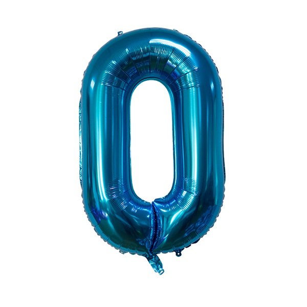 0 – Blue Numbered Balloon