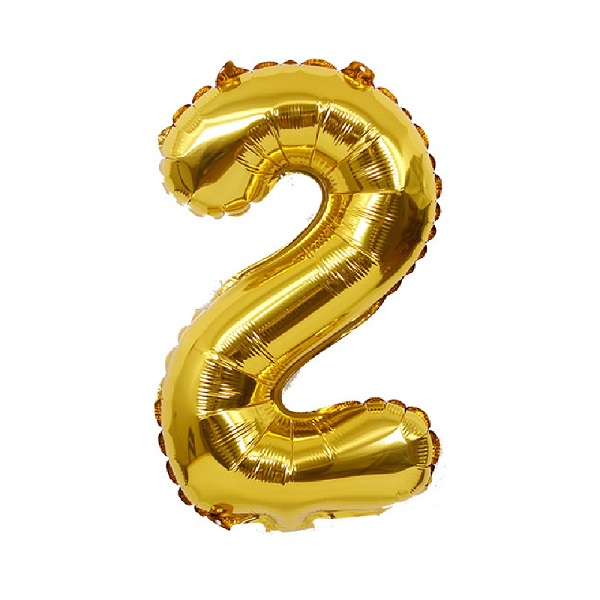 2 – Gold Numbered Balloon