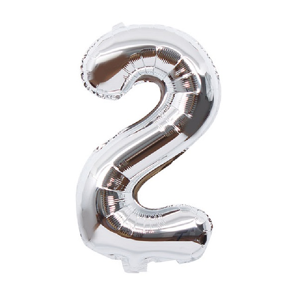 2 – Silver Numbered Balloon