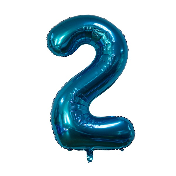 2 – Blue Numbered Balloon