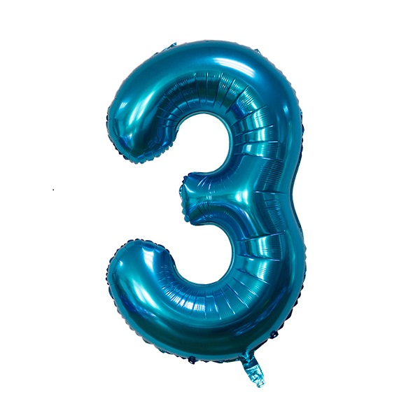 3 – Blue Numbered Balloon