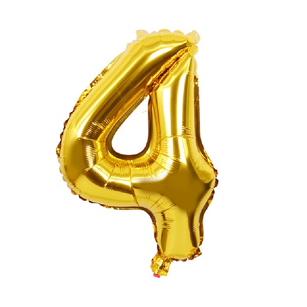 4 – Gold Numbered Balloon