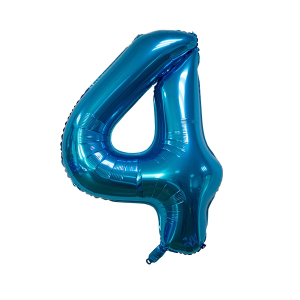 4 – Blue Numbered Balloon