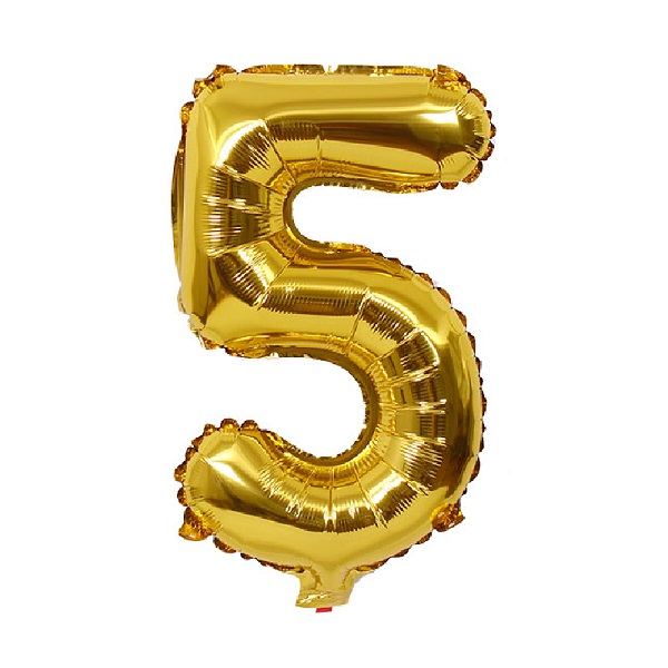 5 – Gold Numbered Balloon