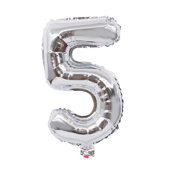 5 – Silver Numbered Balloon