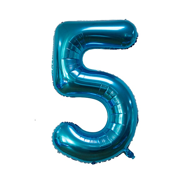 5 – Blue Numbered Balloon