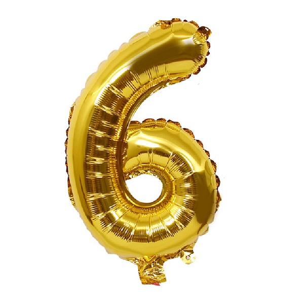 6 – Gold Numbered Balloon