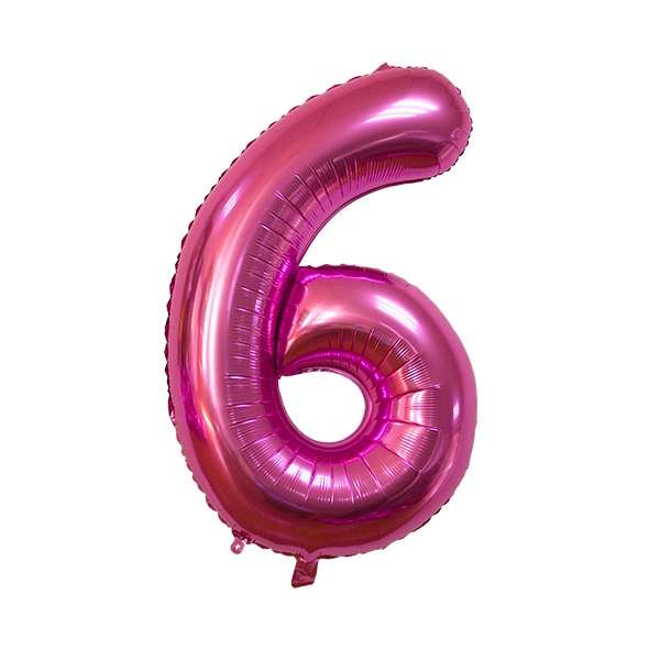 6 – Pink Numbered Balloon
