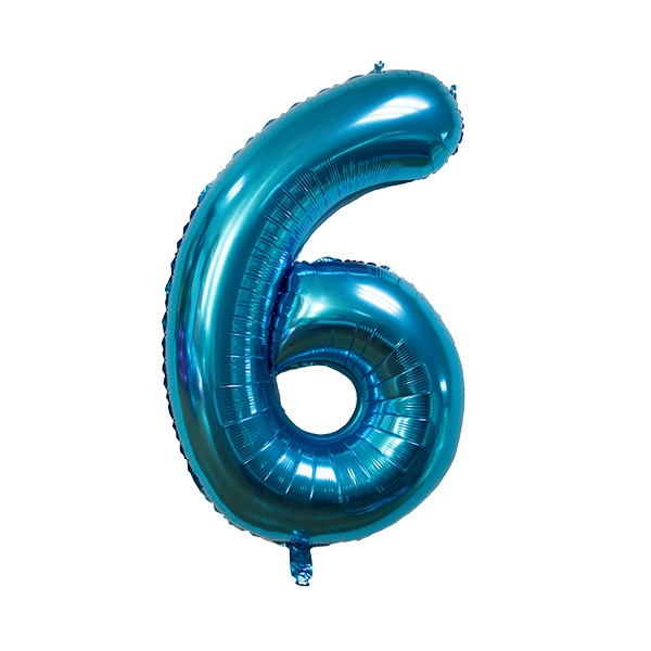 6 – Blue Numbered Balloon
