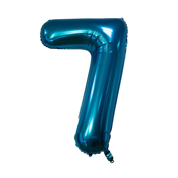 7 – Blue Numbered Balloon