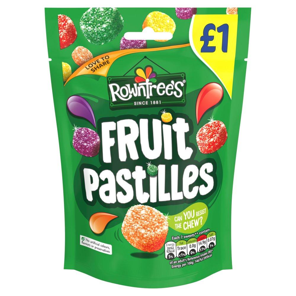 ROWNTREE'S Fruit Pastilles Sweets Sharing Bag 120g £1