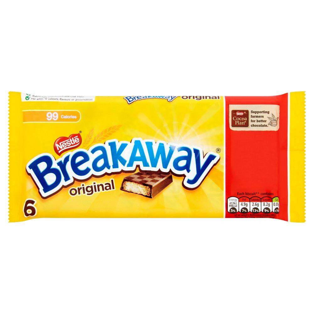 Breakaway Milk Chocolate Biscuit Bar 6 Pack £1