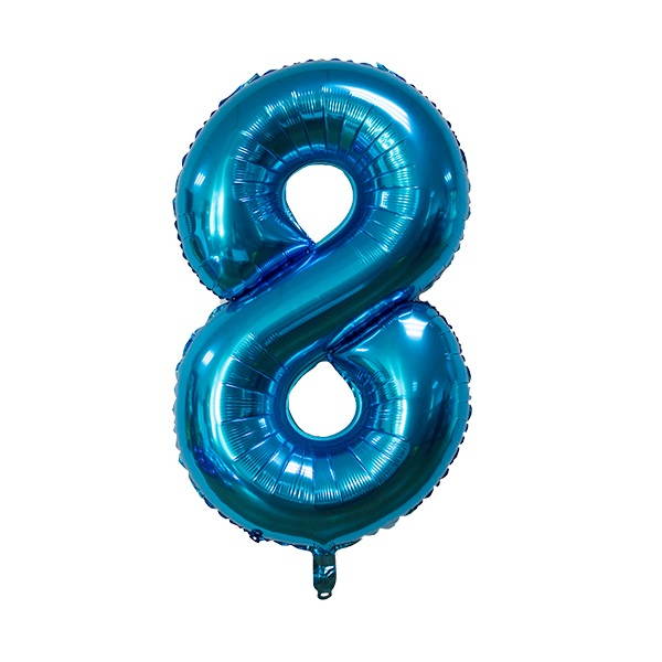 8 – Blue Numbered Balloon
