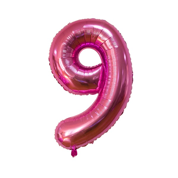 9 – Pink Numbered Balloon