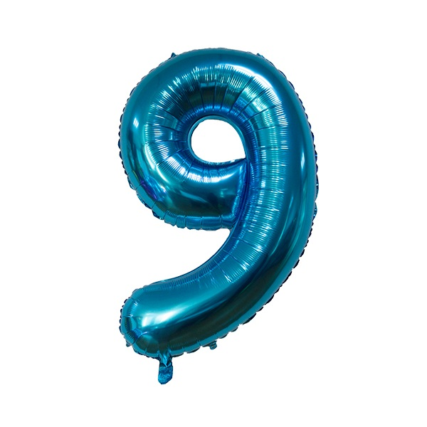 9 – Blue Numbered Balloon