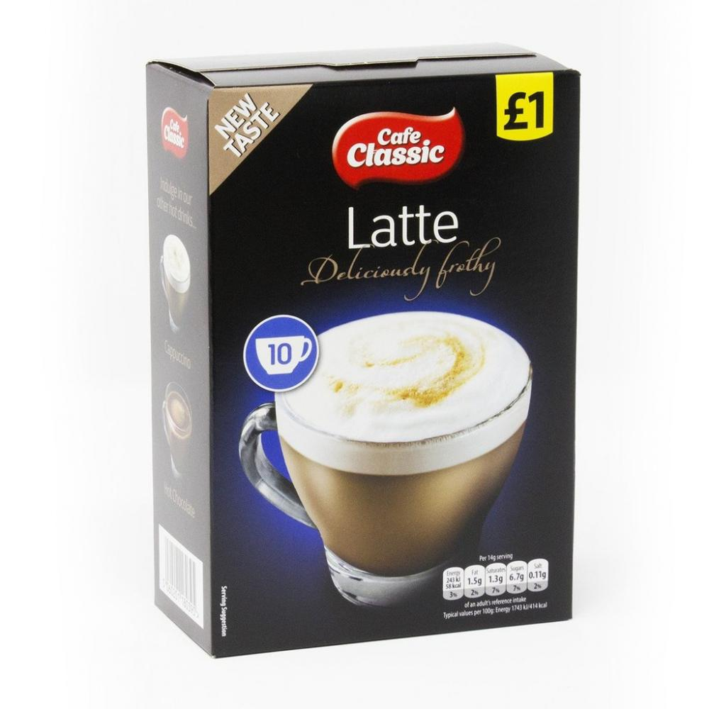Cafe Classic Instant Latte 10 sachets 140g