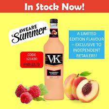 VK Raspberry Peach 70cl Limited Edition