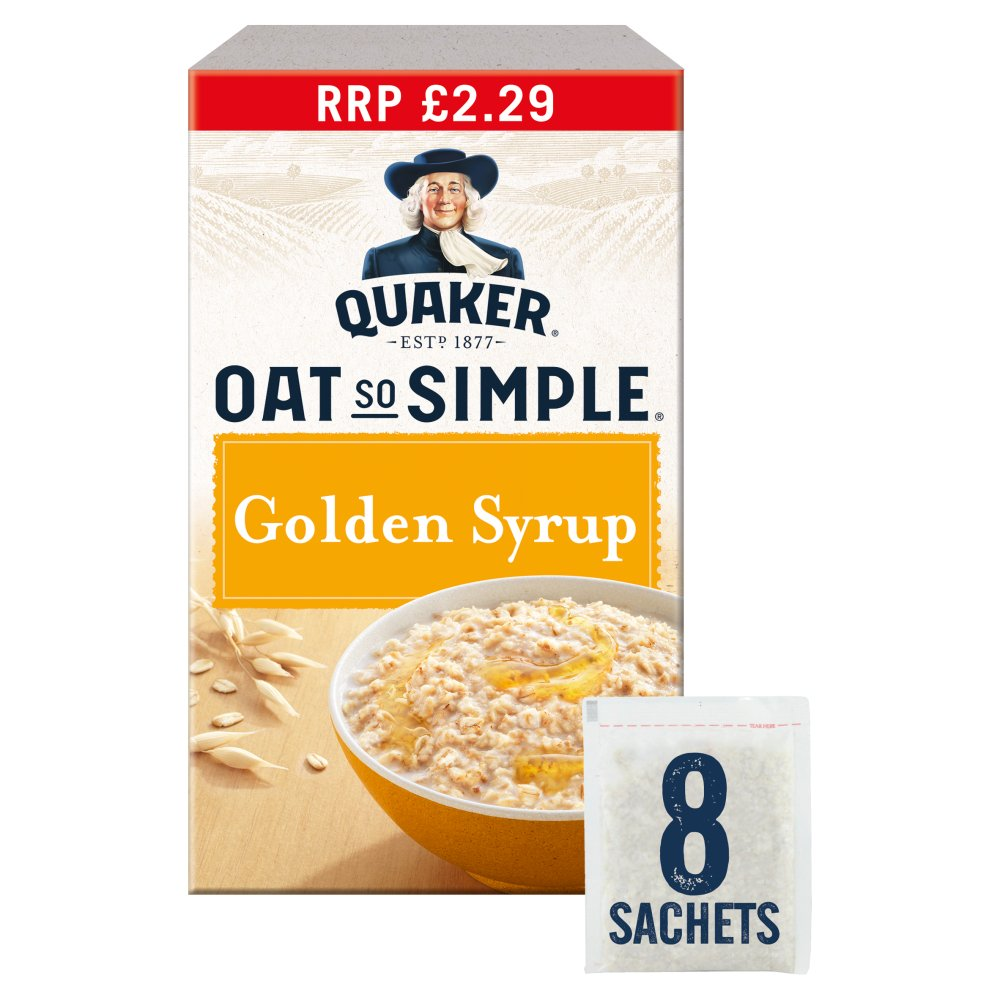 Quaker Oat So Simple Golden Syrup Porridge £2.29 PMP 8x36g