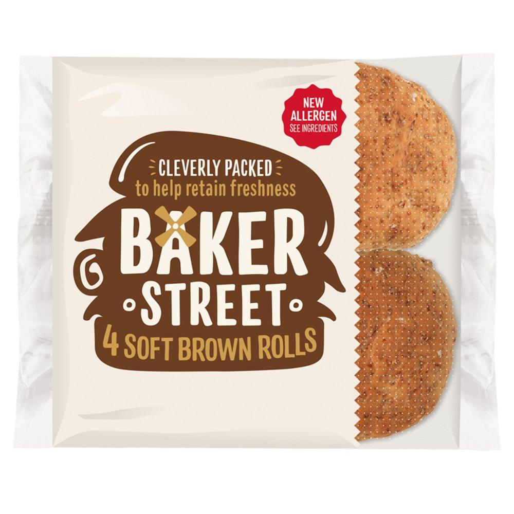 Baker Street 4 Soft Brown Bread Rolls