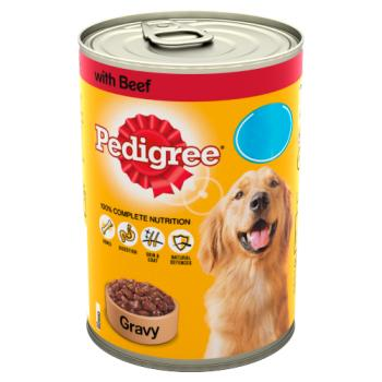 Pedigree Dog Food Tin Beef in Gravy 400g – Twin Pack