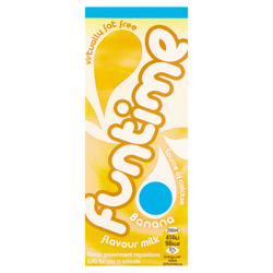 Funtime Banana Flavour Milk 200ml X 4 – 4 PACK