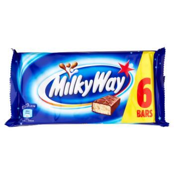 Milky Way Chocolate Bar Multipack 6 x 21.5g