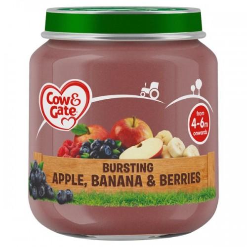 Apple Banana & Berries Cow & Gate 4-6 Months 125g