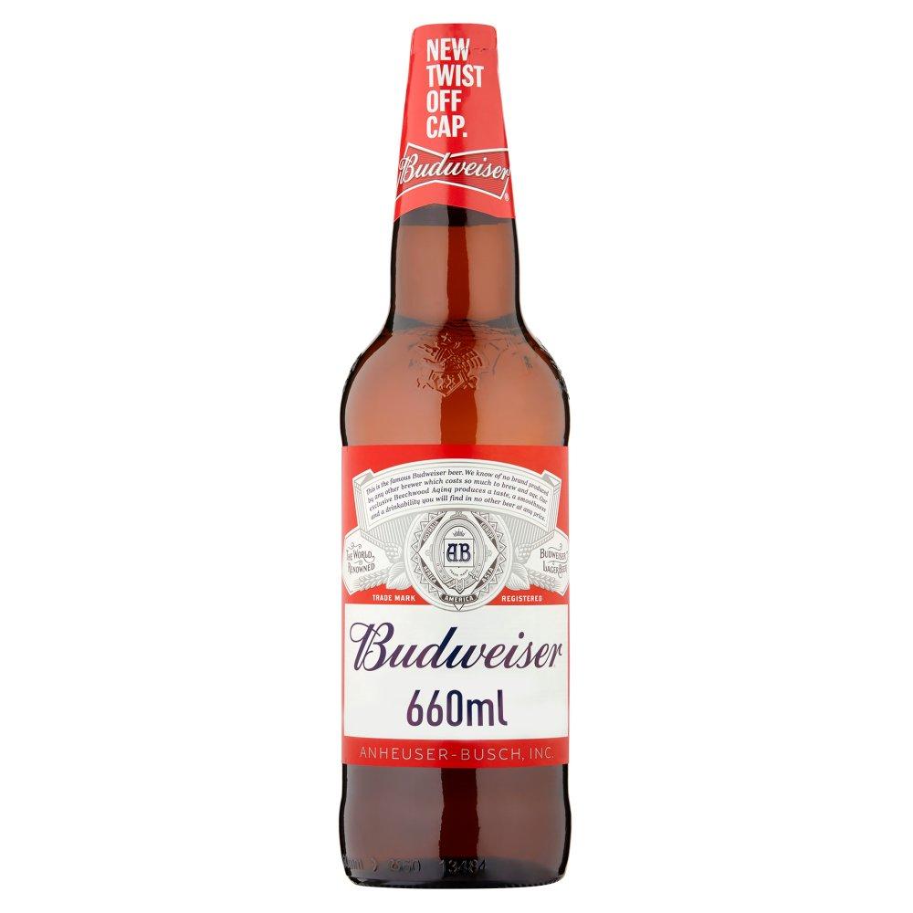 Budweiser Lager Beer Bottle 660ml