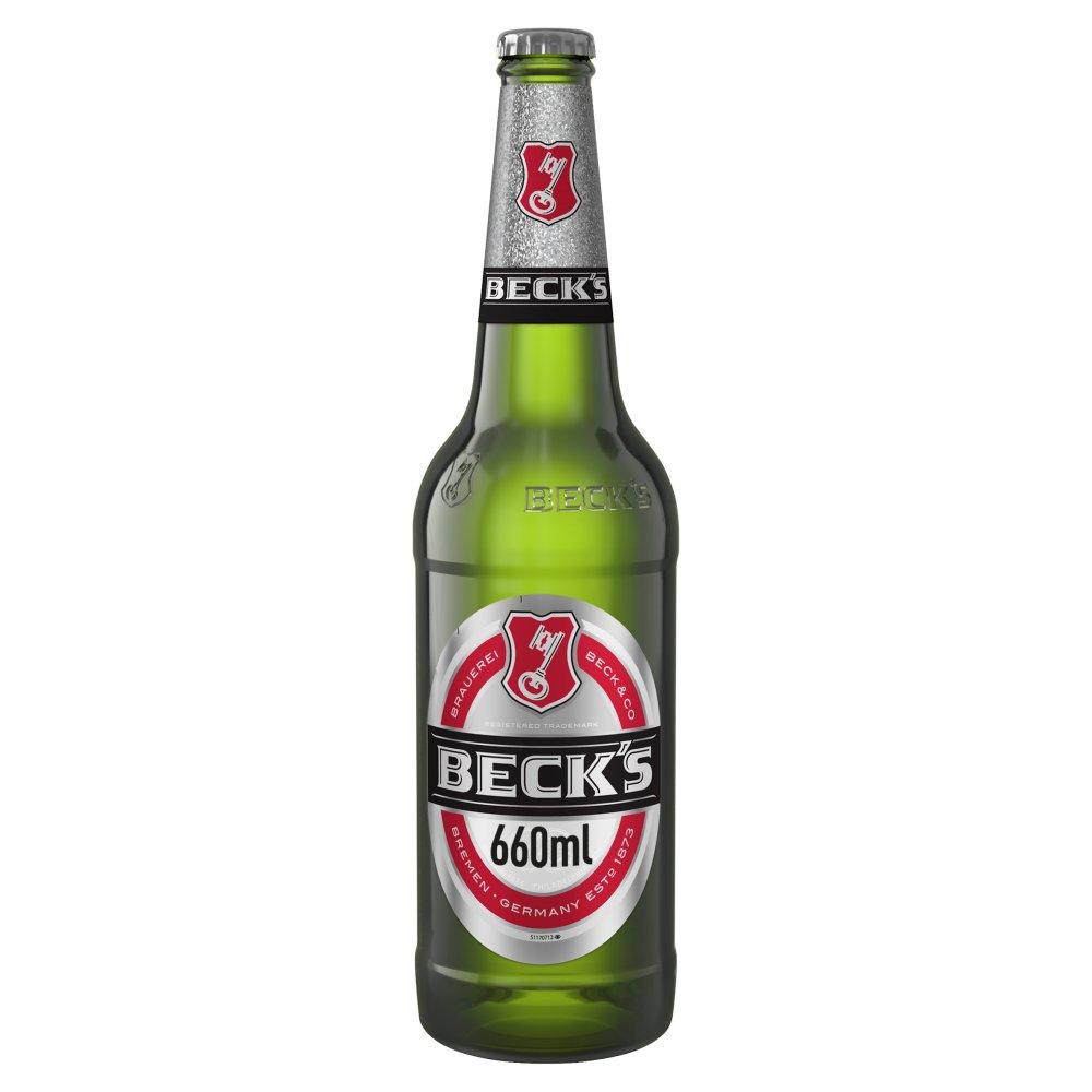Beck's German Pilsner Beer Bottle 660ml