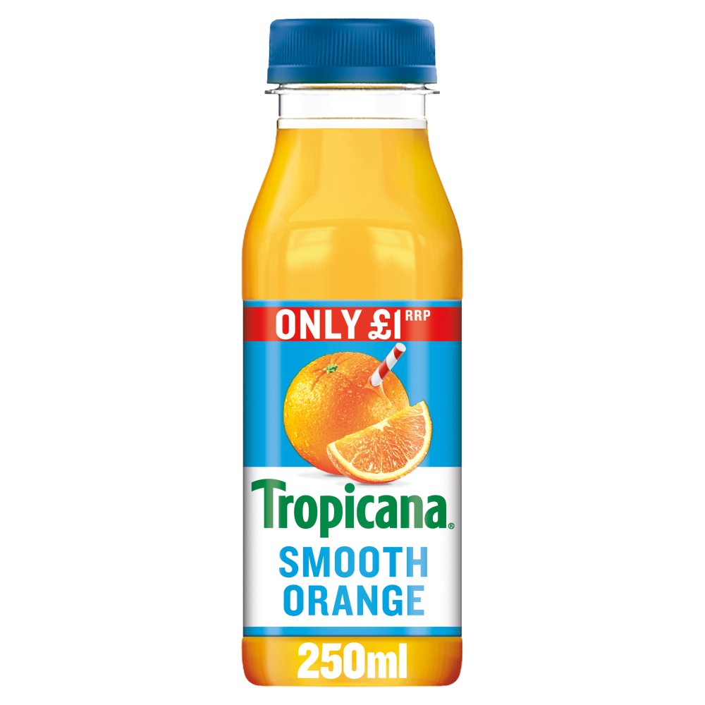 Tropicana Smooth Orange Juice £1 RRP PMP 250ml