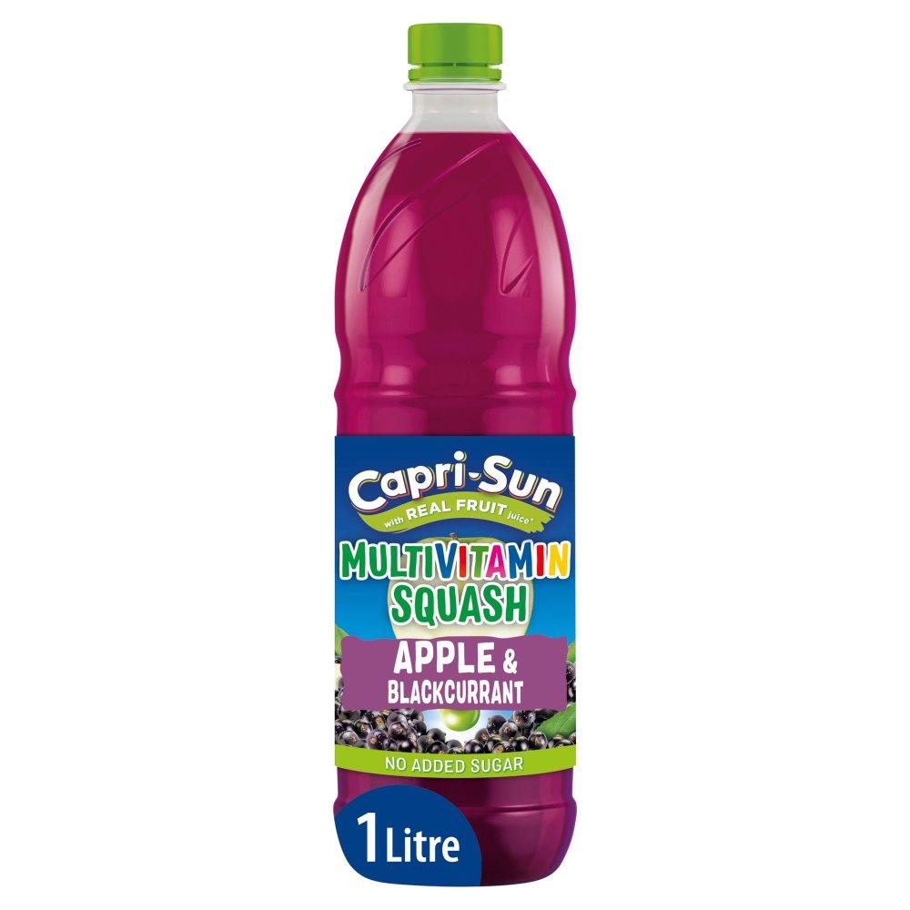 Capri-Sun No Added Sugar Multivitamin Apple and Blackcurrant Squash 1L