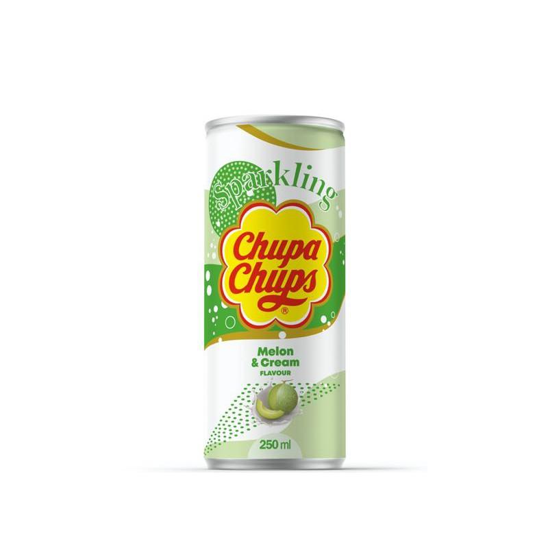 CHUPA CHUPS 250ML MELON & CREAM FLAVOUR SPARKLING SOFT DRINK